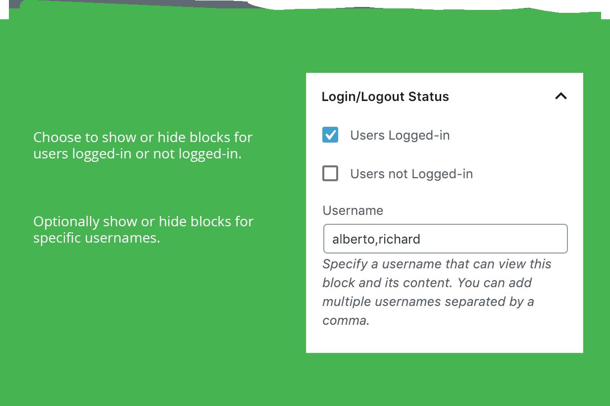 Login/Logout Status Settings